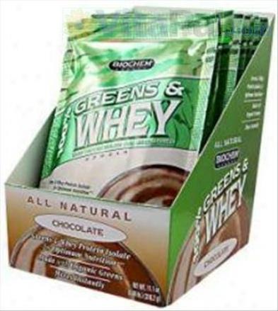Biochem's 100% Greens & Whey Powder Chocolate 10pkts