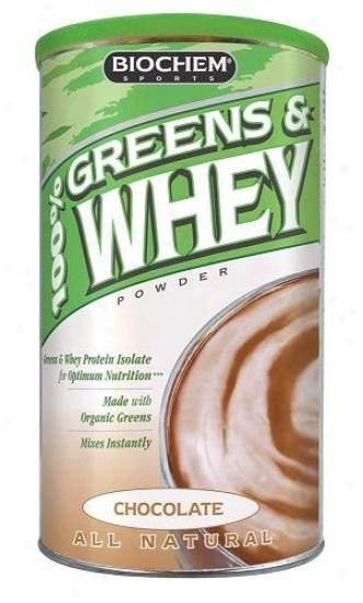 Biochem's 100% Greens & Whey Protein Powder Chocolate 10.3oz
