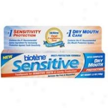 Biotene Dental Products Sensitive Toothpaste 3.5 Oz Tube