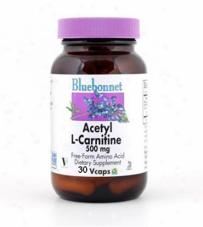 Bluebonnet's Acetyl L-carnitine 500 Mg 30vcaps
