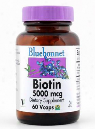 Bluebonnet's Biotin 5000 Mcg 60vcaps