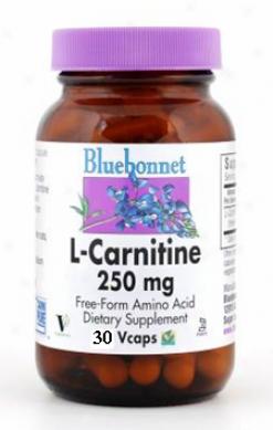 Bluebonnet'ss L-carnitine  250 Mg 30vcaps