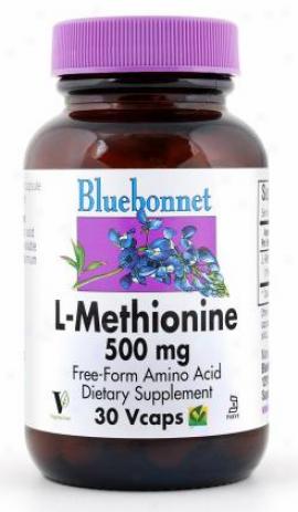 Bluebonnet's L-methionine 500 Mg 30vcaps
