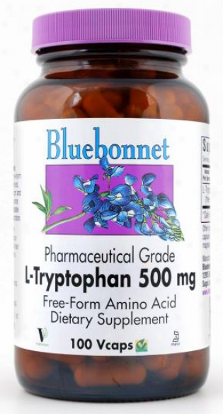 Bluebonnet's L-tryptophan Tryptopure 500mg 100vcaps