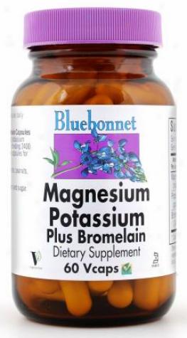 Bluebonnet's Magnesium Potassium  - Plus Bromelain 60vcaps