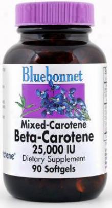 Bluebonnet's Mixed Beta Carotene 25,000 Iu 90sg