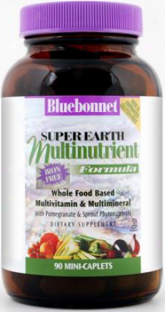 Bluebonnet's Super Earth Fornula  (iron Free) Mini 90caps
