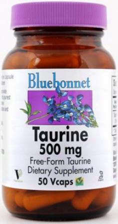 Bluebonnet's Taurine  500 Mg 50vcaps