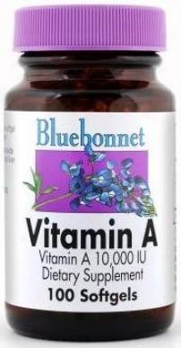 Bluebonnet's Vitamin A 1000 I.u. 100sg