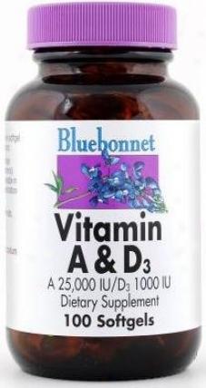 Bluebonnet's Vitamin A & D3 (a 25000 I.u. /d3 1000 I.u.) 100sg