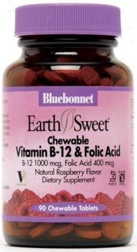 Bluebonjet's Vitamin B-12 & Folic Acid 90tabs