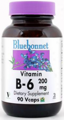 Bluebonnet's Vitamin B-6 200 Mg 90caps