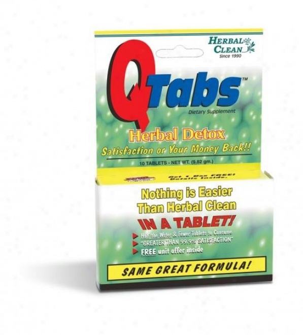 Bng's Herbal Clean Q-tabs One-hour 10tabs
