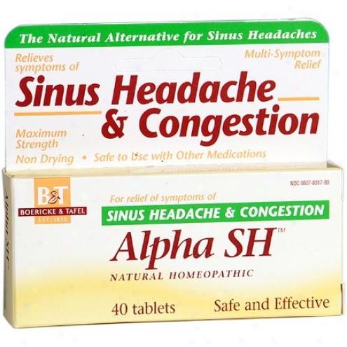Boericke Tafel's Alpha Sh Sinus Headache & Congestion 40tabs