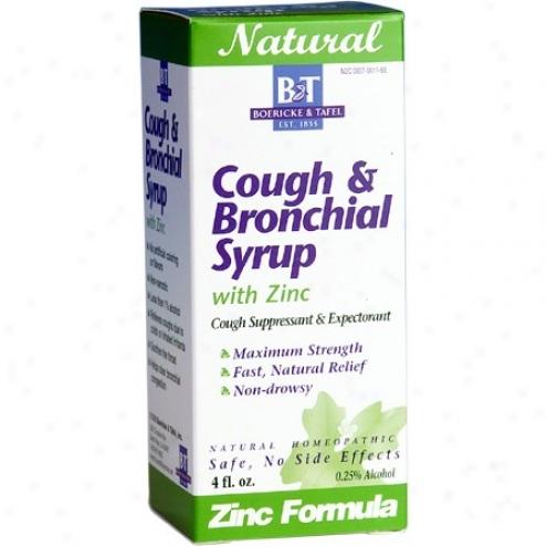 Boericke Tafel's Cough & Bronchial Syrup W/ Zinc 4 Fl Oz