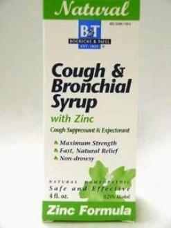 Boericke & Tafel's  Cough & Bronchial Syrup W/ Zinc 4 Oz