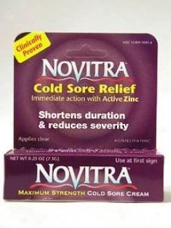Boericke & Tafel's  Novitra Cold Sore Cream 0.25 Oz