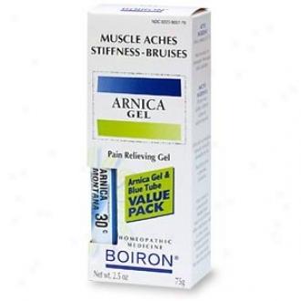 Boiron Medicines Arnica Gel & Blue Pipe Value Pack 2.5 Oz+30c Mdt