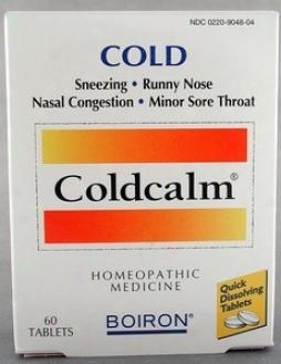 Boiron Medicines Cold Calm Blister Pak 60tabs