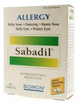 Boiron Medicines Sabadil 60tabs