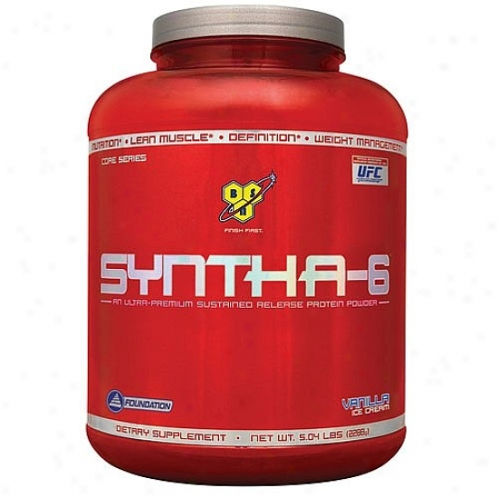 Bsn's Syntha-6 Sustained Release Protein Powder Vanilla 5lb