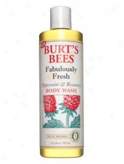 Burt's Bees Fabulously Fresh Peppermint & Rosemary Body Wash 12oz