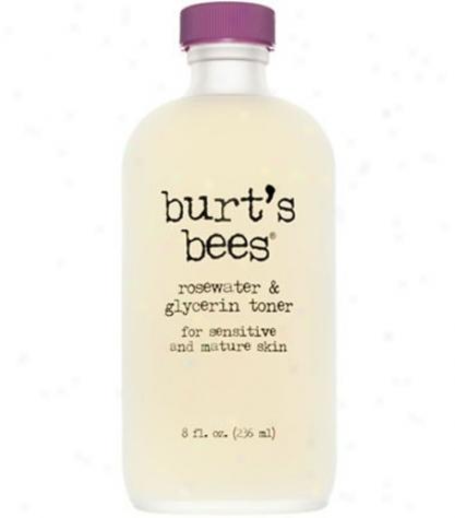 Burt's Bees Rosewater & Glycerinetoner 8oz