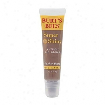 Burt's Bees Super Shiny Lip Lustre Pucker Berry 0.5oz