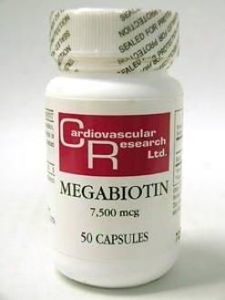 Cardiovascular's Megabiotin 7500mcg 50caps