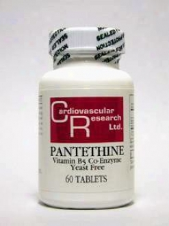 Cardiovascular's Pantetyine 165mg 60tabs