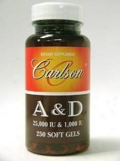 Carlson Lab's A & D 25000iu & 1000iu 250sg