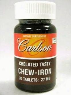 Carlson Lab's Chew-iron 27mg 30tabs