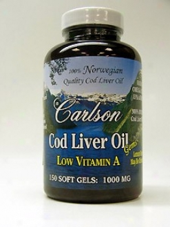Carlson Lab's Cod Liver Oil Low Vit A Lemon 150sgels