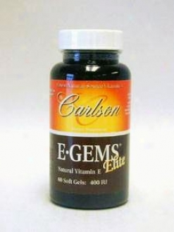 Carlson Lab's E-gems Elite 400 Iu 60 Gels