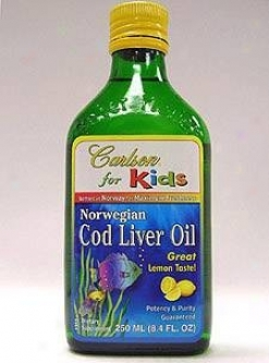 Carlson Lab's Kids Cod Liver Oil Lemon Liquid 250ml