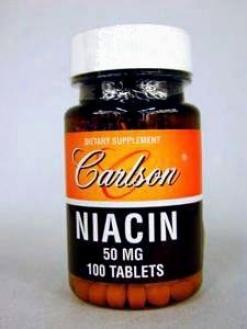 Carlson Lab's Niacin 50 Mg 100 Tabs