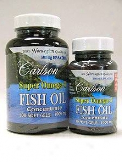 Carlson Lab's Super Omega?3 Fish Oil 100Omg 130sgels