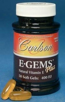 Carlson's E Gems Plus 400 Iu 50sg
