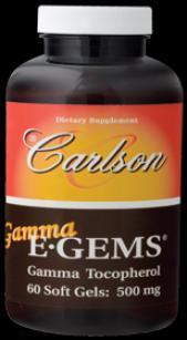 Carlson's Ganma E-gems 500 Mg 60sg