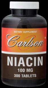 Carlson's Niacin 100mg 300tabs