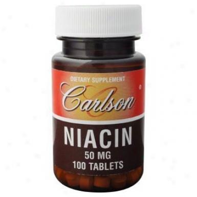 Carlson's Niacin 50mg 100tabs