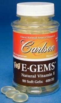 Carlson's Veg E Gems 400 Iu 90sg