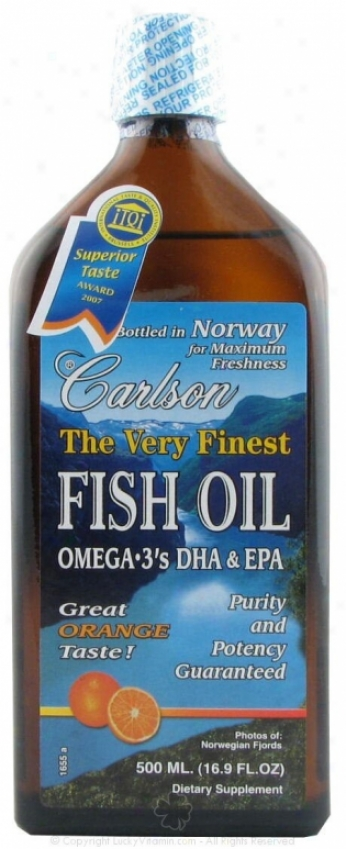 Carlson's Very Finest Fish Oil Mellifluous Orange Flavor 500ml
