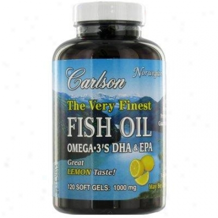 Carlson's Very Finest Norwegian Fish Oil Lemon Flavor 120sg