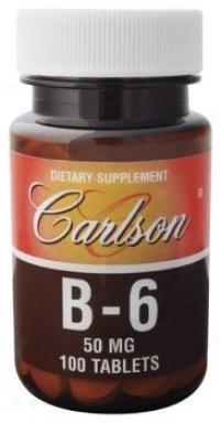 Carlson's Vitamin B-6 50mg 100tabs
