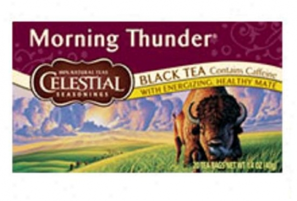 Celestial Seasoning's Morning Thunder Black Tea Contains Caffeine 20bags