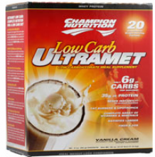 Champion's Ultrame Low Carb Vanilla Cream 20pkts
