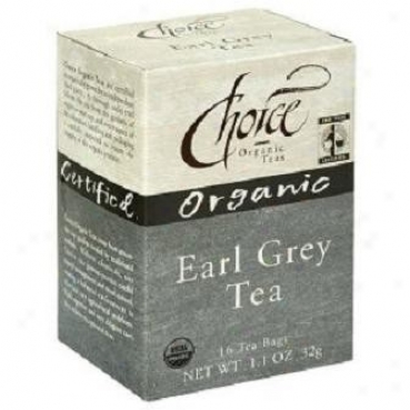 Choice Organic Tea's Earl Grey Tea 16bagw