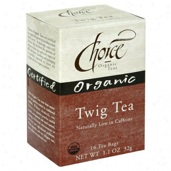 Choice Organic Tea's Twig Tea Low Caffeine 16bagq