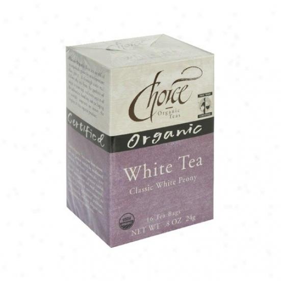 Choice Organic Tea's White Classic White Peony Tea 16bags